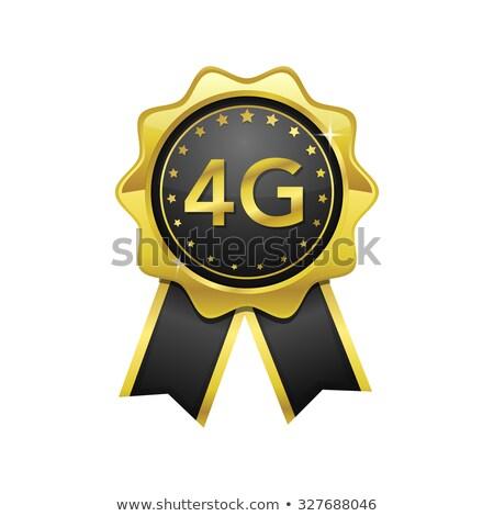3g assinar dourado vetor ícone projeto Foto stock © rizwanali3d