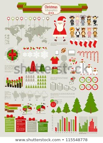 Stock foto: Vektor · Weihnachten · Vorlage · Bericht · Zeilen