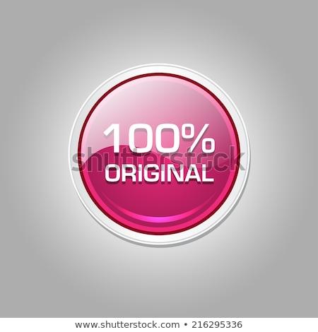 100 por cento original rosa vetor botão Foto stock © rizwanali3d