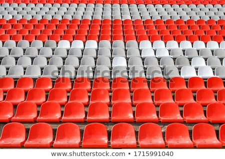 Rows of red empty stadium seats Stock photo © stevanovicigor