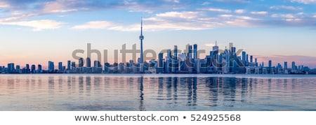 Торонто Skyline Панорама сумерки Онтарио Канада Сток-фото © vichie81