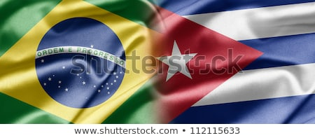 Brazil and Cuba Flags Stock photo © Istanbul2009