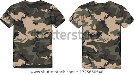 camouflage tshirt Stock photo © ozaiachin