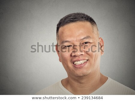 Handsome happy genuine middle-aged man Stock photo © ozgur