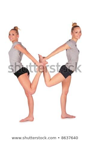 tweeling · sport · meisje · vrouw · liefde · meisjes - stockfoto © Paha_L