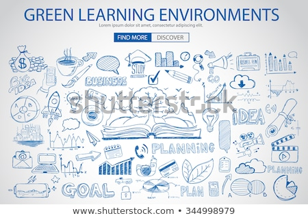 Green Learning Environment with Doodle design style  Stock photo © DavidArts
