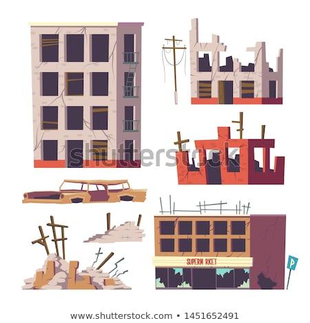 uszkodzenie · starych · budynków · szczegóły · owadów · grzyb - zdjęcia stock © capturelight