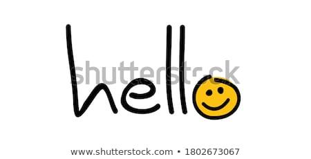 Komik mesaj mutlu genç kadın okuma haber Stok fotoğraf © filipw