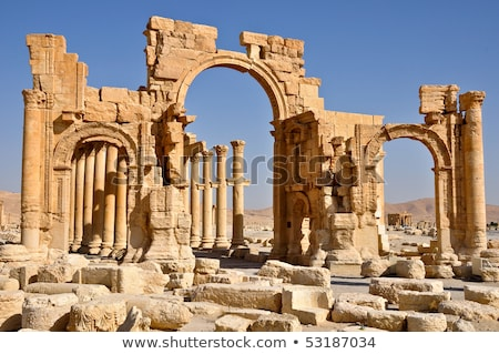 old ruins in the ancient city of Palmyra Stock photo © meinzahn