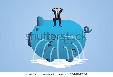 悪い知らせ 貯金 金融 問題 ストックフォト © devon