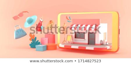árengedmény 3D renderelt kép kép piros százalék Stock fotó © andreasberheide