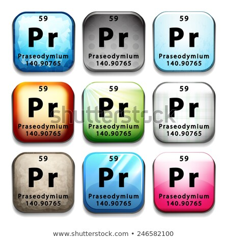 An icon showing the chemical Praseodymium Stock photo © bluering