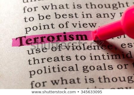 定義 テロ 辞書 クローズアップ 表示 戦争 ストックフォト © dzejmsdin