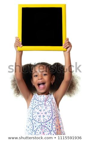 Iskolások iskolatábla copy space gyerekek iskola boldog Stock fotó © zurijeta