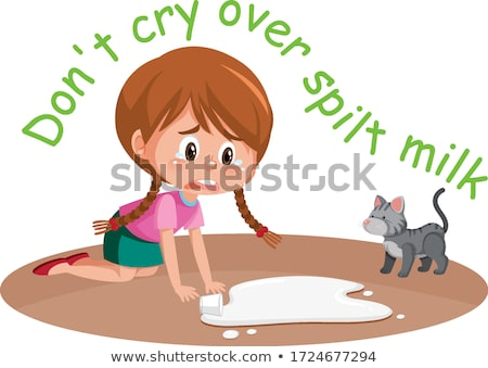 Don't cry over spilt milk idiom Stock photo © bluering
