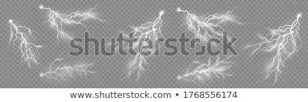 Set of the isolated realistic lightnings. EPS 10 stock photo © beholdereye
