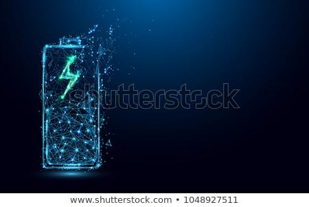 Foto stock: Bateria · tecnologia · símbolo · energia · verde · limpar