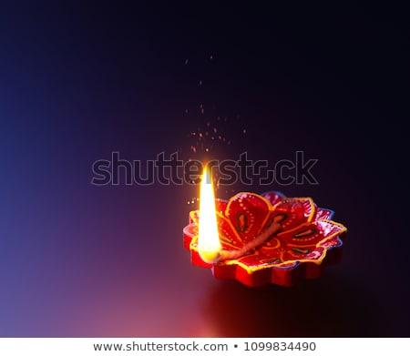 Diwali kolorowy świetle projektu sztuki karty Zdjęcia stock © SArts