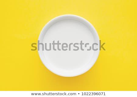 çanak · süt · beyaz · gıda · taze · krem - stok fotoğraf © Digifoodstock