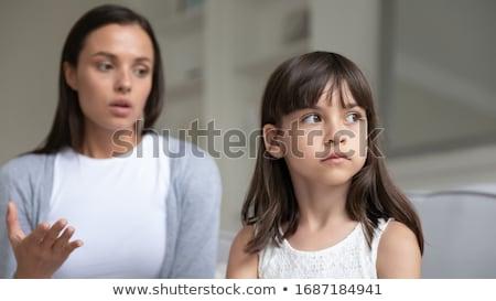 madre · mujer · ninos · nino · habitación · triste - foto stock © giulio_fornasar
