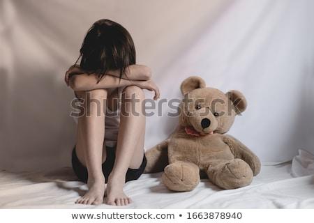 silhueta · pernas · mulher · chave · buraco · sexo - foto stock © smoki