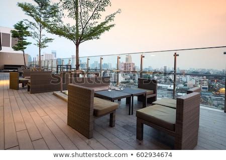 Nowoczesne restauracji zewnątrz miasta centrum Zdjęcia stock © joyr