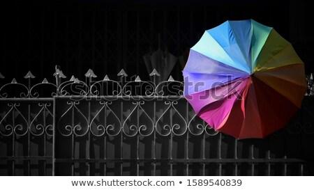 gökkuşağı · şemsiye · soyut · plaj · doku · güneş - stok fotoğraf © srnr