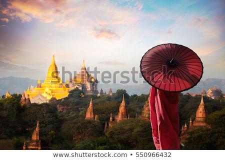 myanmar mandalay sunset Stock photo © cozyta