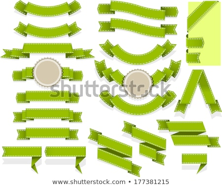 Set of bent ribbons with seam Stock photo © SwillSkill
