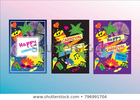 june festival of brazil festa junina background with confetti stock photo © sarts