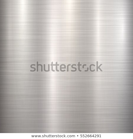 Foto d'archivio: Metal Abstract Technology Background Polished Brushed Texture Chrome Silver Steel Aluminum Ve