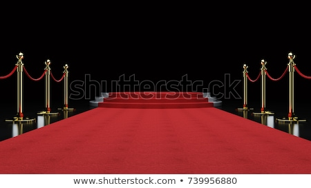 Rode loper trap lege witte verlicht podium Stockfoto © pakete