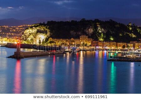 Bom guerra panorama noite francês cidade Foto stock © benkrut