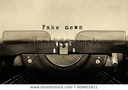 Fake news text on typewriter Stock photo © wavebreak_media