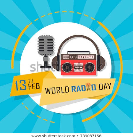 13 February  World Radio Day Stock photo © Olena