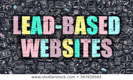 web · hosting · witte · doodle · stijl · iconen - stockfoto © tashatuvango
