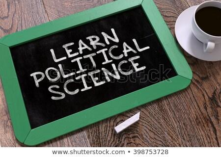 Imparare politico scienza lavagna testo Foto d'archivio © tashatuvango