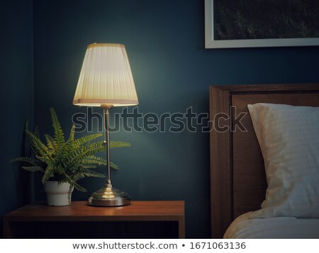 retro bedside lamp stock photo © stevanovicigor