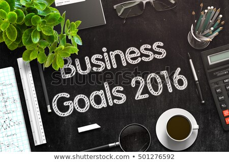 black chalkboard with business goals 2016 3d rendering stock photo © tashatuvango