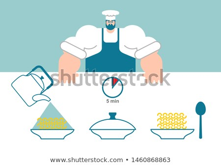 noodles cooking instruction chef directions instant noodles st stock photo © popaukropa