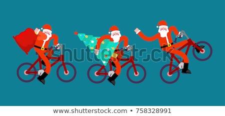 mutlu · yılbaşı · kırmızı · noel · baba · yetişkin - stok fotoğraf © maryvalery