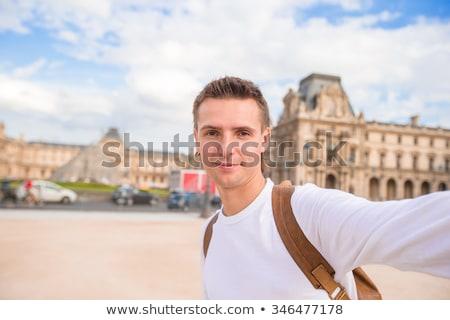 Stockfoto: Man · zelfportret · Parijs · reizen · leven