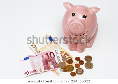 small piggy bank with note in it Stock photo © IS2