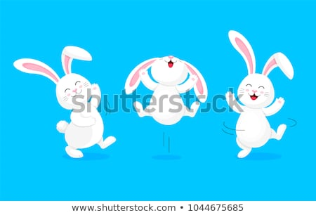 immagine · creativo · conigli · isolato · bianco · design - foto d'archivio © krisdog