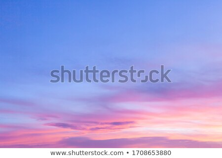 Romantica cielo bella soffice rosa nubi Foto d'archivio © Anna_Om