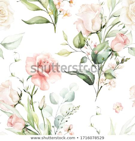 narciso · ramo · de · la · boda · dama · de · honor · vintage · vestido · flores - foto stock © terriana