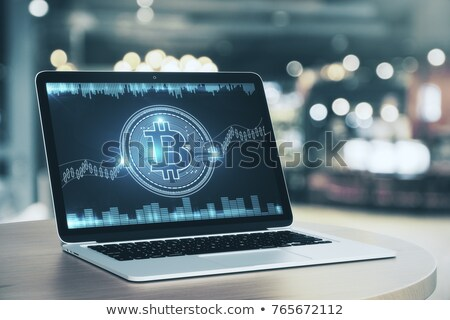 BITCOIN on Laptop Screen. Cryptocurrency Concept. 3D. Stock photo © tashatuvango
