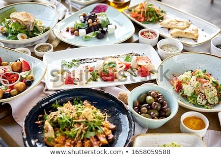 Cozinha italiana tabela ilustração comida fundo arte Foto stock © bluering