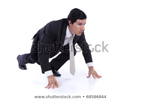 Business men at start position waiting Stock photo © IS2