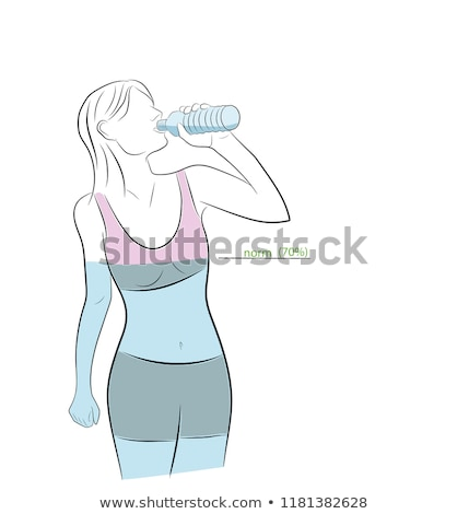 Acqua bianco icona rene medici corpo Foto d'archivio © Olena